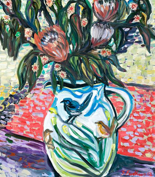 Still life with wren jug