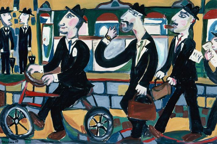 Businessmen going to work