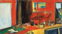 Artist in studio