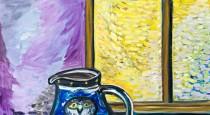 Still life with owl jug